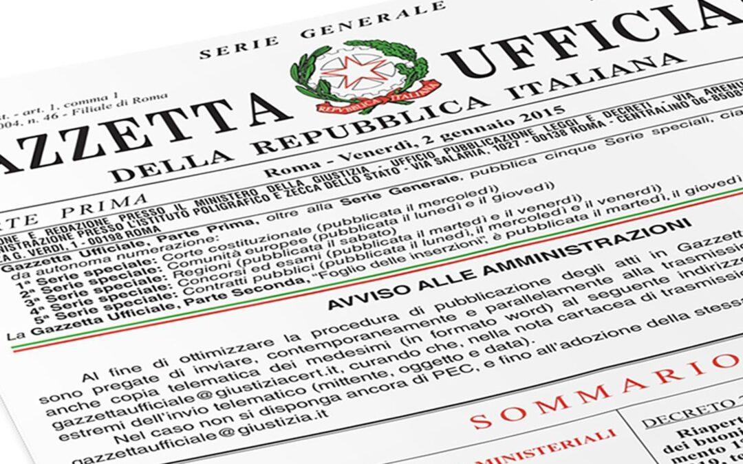 Decreto Legge del 28 ottobre 2020, n. 137 (Decreto Ristori)